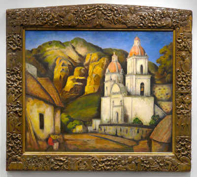 Ramos Martinez, La Iglesia de Texcoco, Private Collection Beverly HIlls
