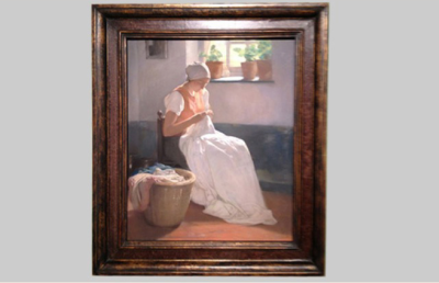 Fine Art Archival Framing : Firmin Baes pastel frame private collection : VANDEUREN