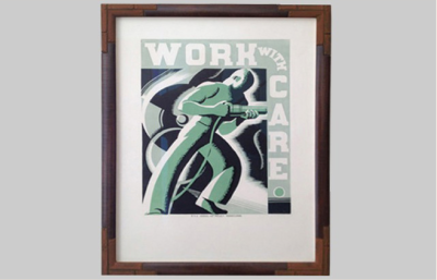 Fine Art Archival Framing : 1930s art industrial finished frame : VANDEUREN