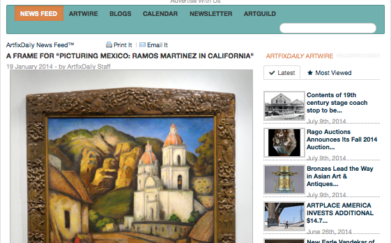 Ramos Martinez Frame in Artfix Daily