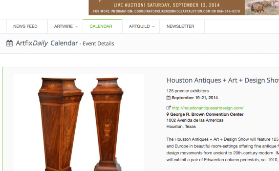 Art Fix Daily:  Houston Antiques Show