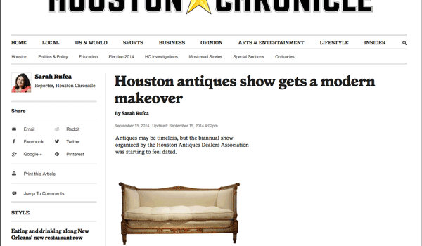 Houston Chronicle: Antiques show gets a makeover