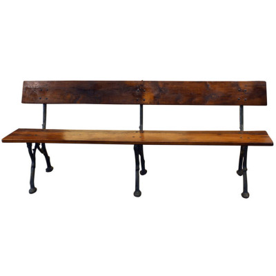 Antique Bench, 19th Century Cast-Iron Bench | VANDEUREN