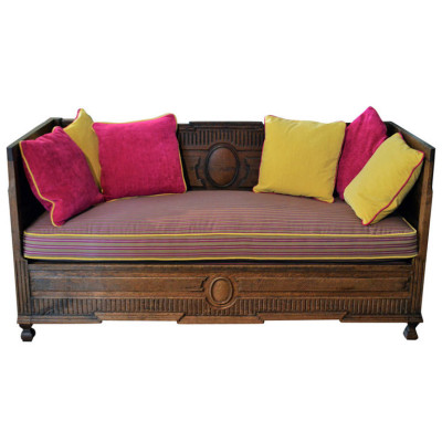 antique sofa, Antique French Sofa in Solid Oak | VANDEUEN