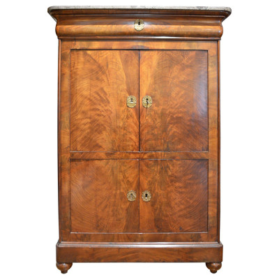 French Armoire, Antique Walnut Armoire - VANDEUREN