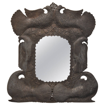 Antique Copper Mirror, Middle Eastern Mirror | VANDEUREN