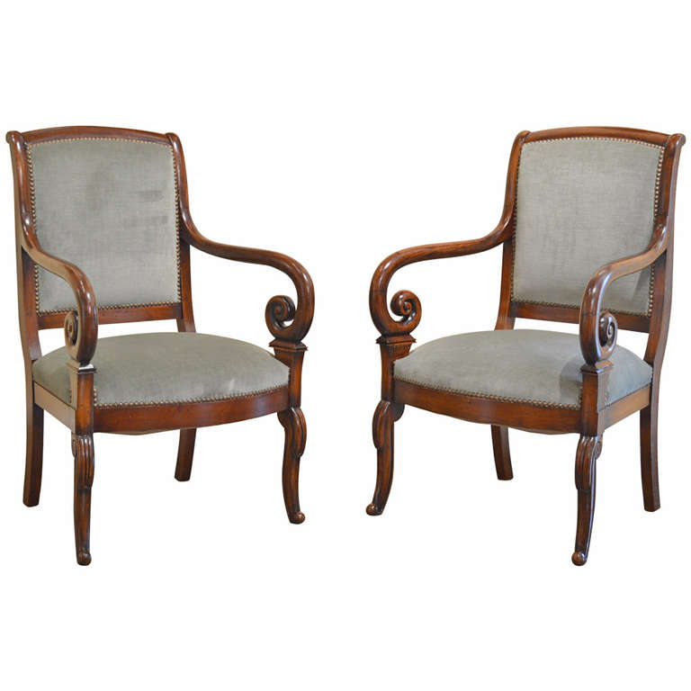 French Antique Chairs, Louis Philippe Chairs - VANDEUREN