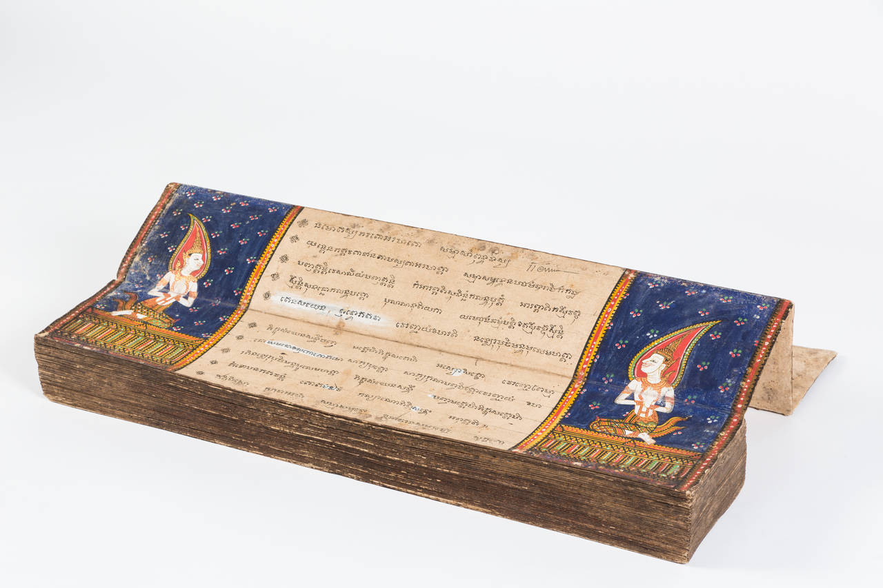 Thai manuscript, antique manuscript | VANDEUREN, Los Angeles CA