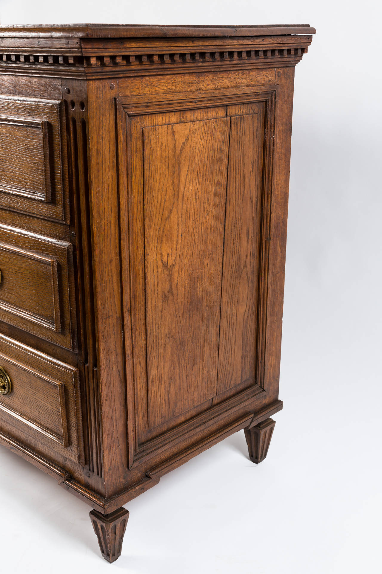 French Louis XVI Dresser in Solid Oak | Vandeuren, Los Angeles CA
