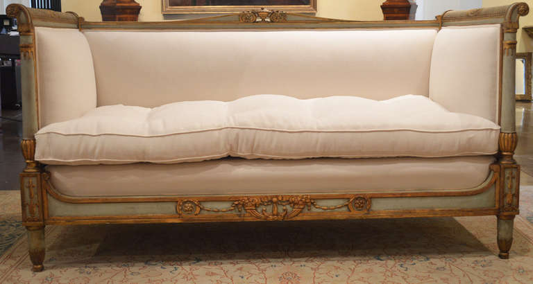 Antique French Sofa, Directoire Furniture, Directoire Sofa | VANDEUREN, Los Angeles CA